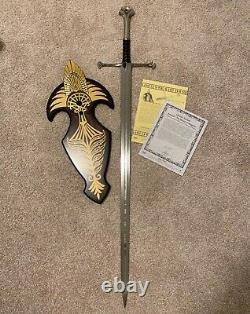 United Cutlery UC1380ASLB Lord Of The Rings Anduril Sword Limited Edition withCOA