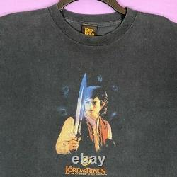 Vintage Black Lord Of The Rings movie t shirt Size Large