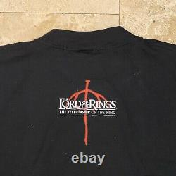 Vintage Lord Of The Rings Orc T-Shirt 2001 Size Large Deadstock Fellowship