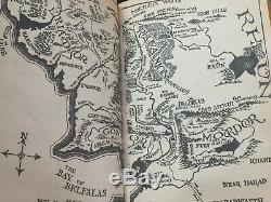 Vintage Set 5 Leather Bound Lord of the Rings Hobbit, Trilogy, Tolkien Reader
