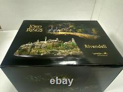 WETA LORD OF THE RINGS RIVENDELL STATUE LOTR Rivendell Polystone Diorama NEW