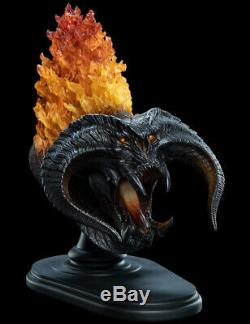 Weta BALROG Demon Shadow Flame Lord of the Rings LED Real Fire Effects Udun Bust