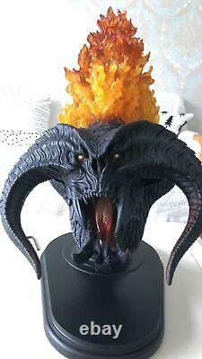 Weta Balrog Bust Demon Shadow Flame Lord of the Rings LED Light Effects Udun