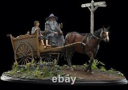 Weta Lord of the Rings MASTERS COLLECTION Gandalf & Frodo Cart Statue Enviroment